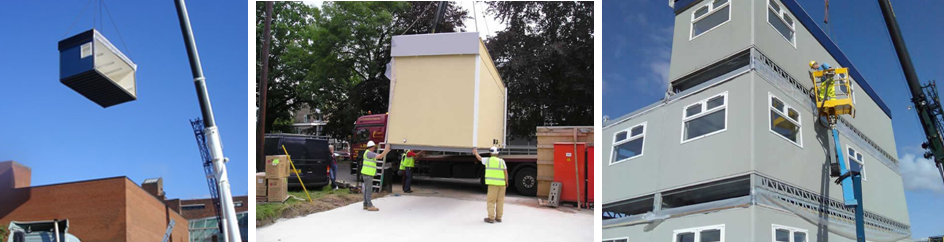 Installation Porable modular buildings
